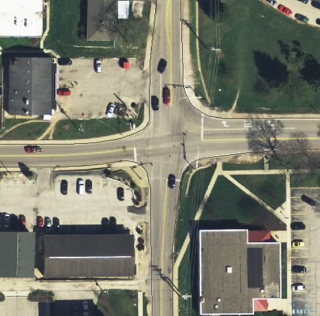 aerial image of intersection