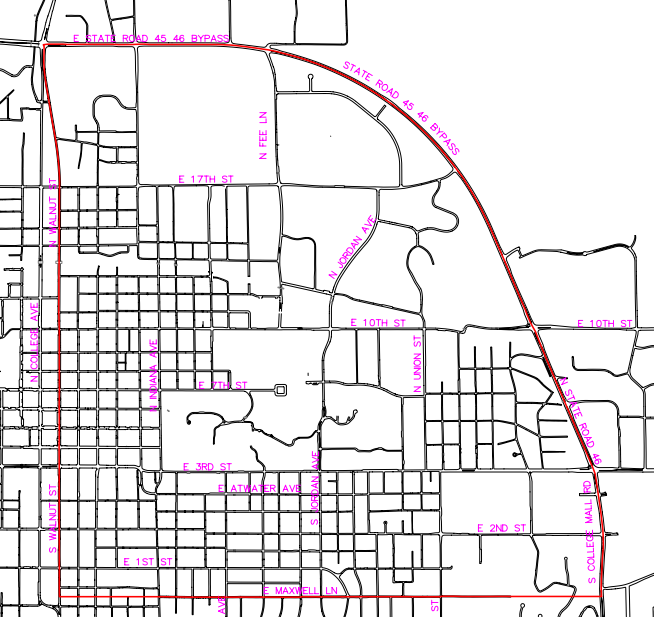 Map of hydrant work